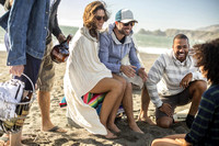 people-lifestyle-beach-group-laughing-beer